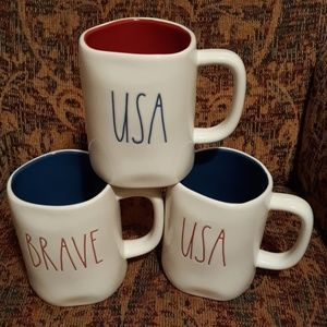Rae dunn fourth  of July mug usa usa brave